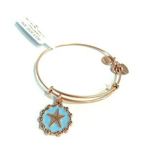 ALEX & ANI Rose gold enamel starfish bracelet NWT